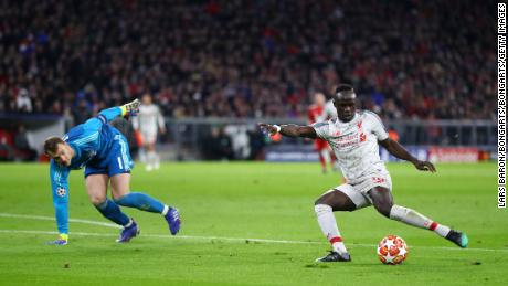 Sadio Mane gave Liverpool the lead in Munich