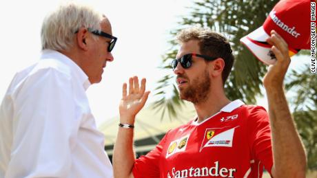 "Ferrari driver Sebastian Vettel described Whiting as ""our sort of man, our drivers' man""."
