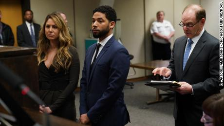 Jussie Smollett pleads not guilty to charges that he staged a hoax