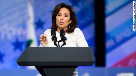 Jeanine Pirro during the Conservative Political Action Conference at the Gaylord National Resort and Convention Center February 23, 2017 in National Harbor, Maryland. Hosted by the American Conservative Union, CPAC is an annual gathering of right wing politicians, commentators and their supporters. (Photo by Zach D Roberts/NurPhoto) *** Please Use Credit from Credit Field ***(Sipa via AP Images)