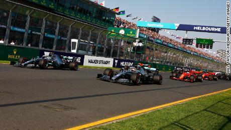 Valtteri Bottas passed Lewis Hamilton off the grid and stretched away around Albert Park.