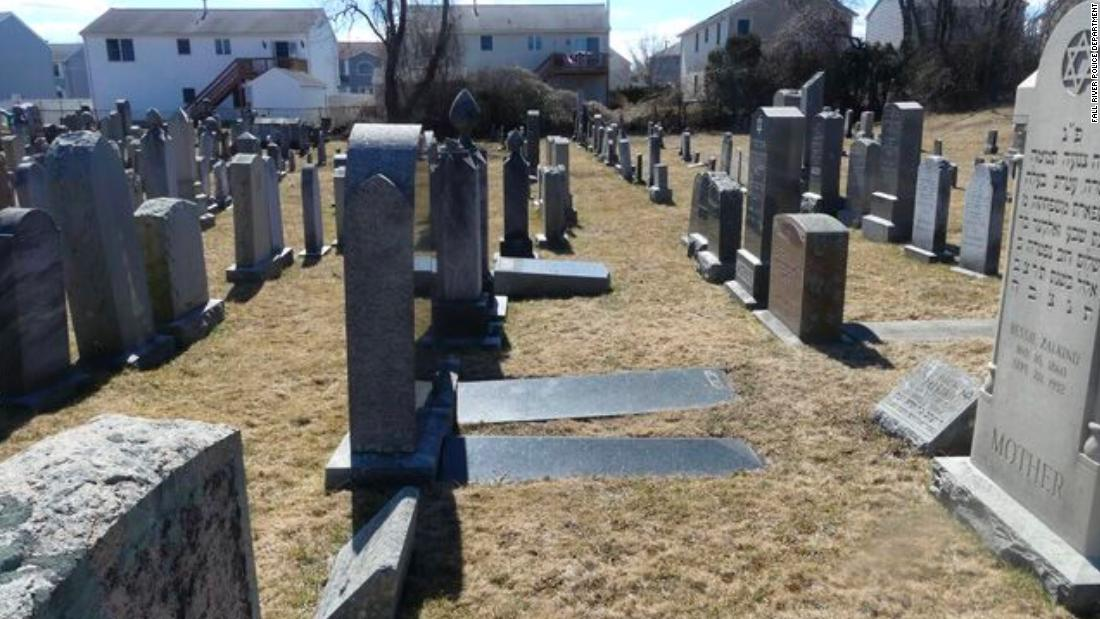 59 gravesites were vandalized with anti-Semitic symbols and language at a Massachusetts cemetery - CNN