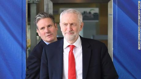 Labour leader Jeremy Corbyn (right) and shadow Brexit secretary Sir Kier Starmer.