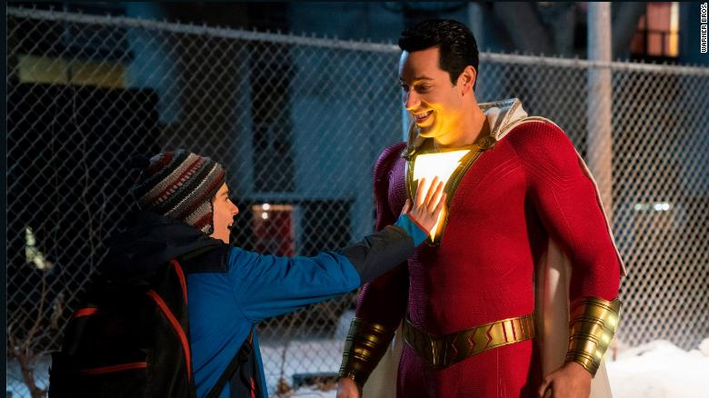 Zachary Levi turns James Corden into Shazam! in a super-spoof