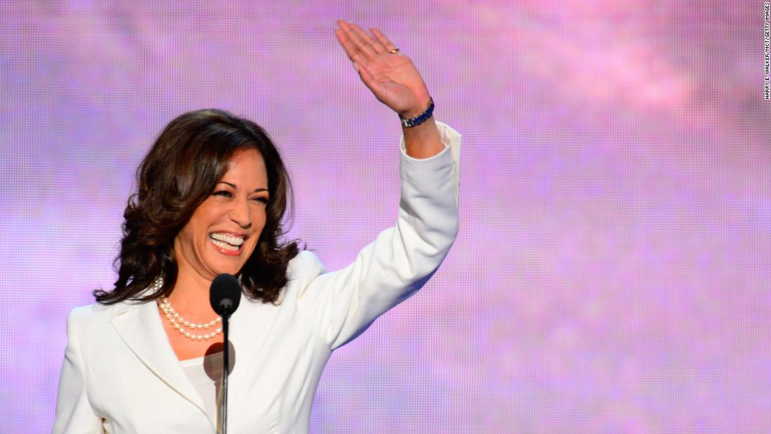 Harris speaks on the second night of the 2012 Democratic National Convention.