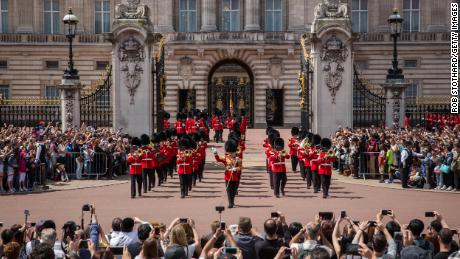 The Changing of the Guard at Buckingham Palace in 2015