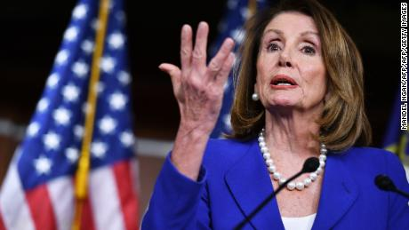 US House Speaker Nancy Pelosi, Democrat of California, holds her weekly press conference at the House Studio of the US Capitol in Washington, DC, on March 28, 2019.  (MANDEL NGAN/AFP/Getty Images)