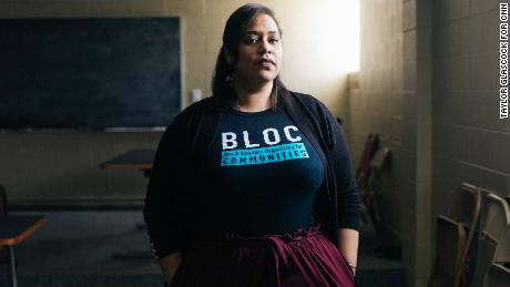 """Angela Lang is the executive director of BLOC (Black Leaders Organizing Communities) in Milwaukee, Wisconsin. """"This is not something that comes up because there are so many other things that the black community and working-class folks are dealing with on a daily basis that folks just don't feel connected to it,"""" she says."""