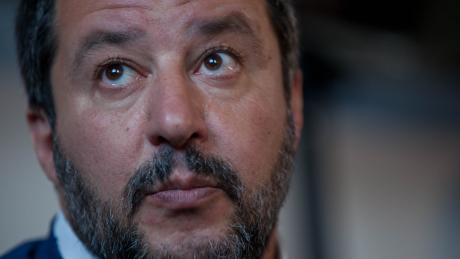 Matteo Salvini, Italy's hard-line interior minister and deputy prime minister, at the WCF Verona Saturday.