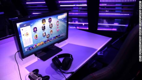 Gamers at the tournament play 'Ultimate Team' -- popular among online FIFA players.