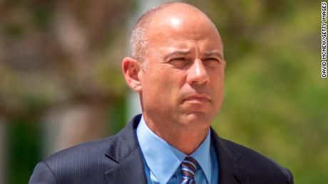 Celebrity lawyer Michael Avenatti arrives for his first hearing in Santa Ana federal court on bank and wire fraud charges