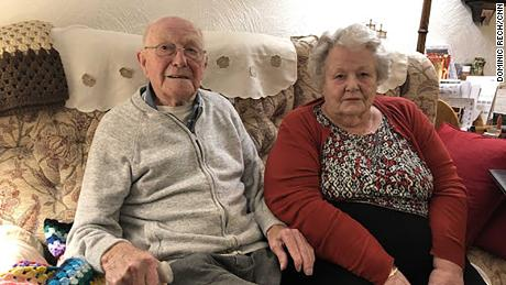 Harry and Serena Perkins in their home in Nuthall, Nottingham.