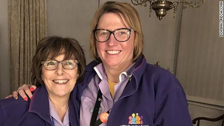 Deborah Royston and Sonia Read during their overnight night support shift