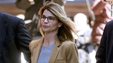 The actor Lori Loughlin arrives at the federal court in Boston on Wednesday, 3 April, 2019, to address costs of bribery bullying that is being delivered nationally across the college.