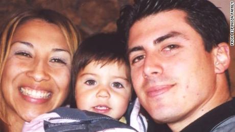 Renata and Isaac Espinoza, with their daughter Isabella.