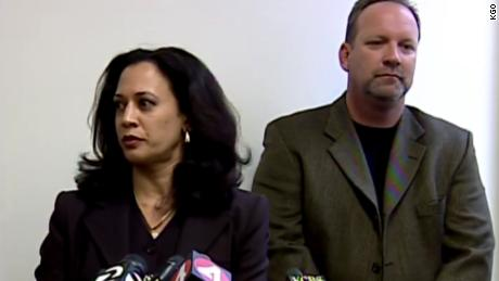Delagnes said he didn't know Harris would take the death penalty off the table when he stood with her at a news conference.