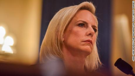 WASHINGTON, DC - MARCH 6: Kirstjen Nielsen, Secretary of Homeland Security, testifies before the House Homeland Security Committee at the Cannon House Office Building at a hearing entitled, The Way Forward on Border Security on Wednesday, March 6, 2019, in Washington, DC.  Democrats, now in control of the House, have stepped up congressional oversight of the Trump administration, and border security remains one of the bitterest policy fights between Democrats and the Republican administration. (Photo by Jahi Chikwendiu/The Washington Post via Getty Images)