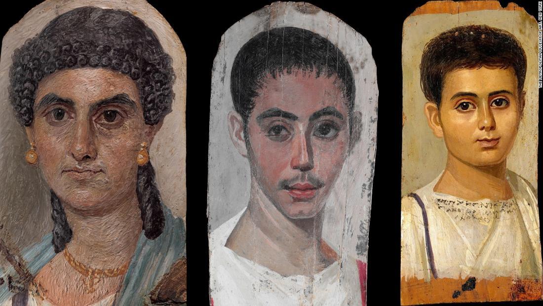 古代エジプトの起'ミイラの肖像画'