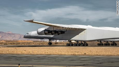 Stratolaunch pops a wheelie during January's high-speed taxi test