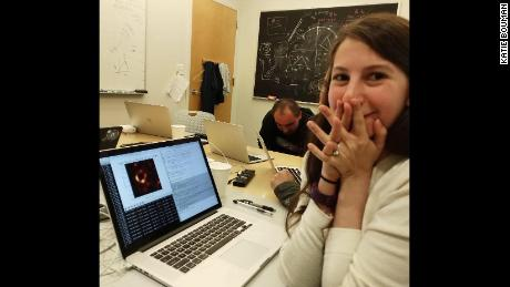 Katie Bouman and the image that she helped make possible.