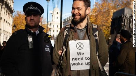 An Extinction Rebellion protestor, London, November 2018
