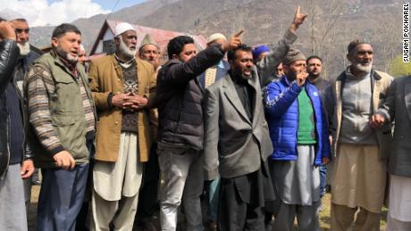 Protesters say violence in Kashmir has a severe impact on their daily lives.