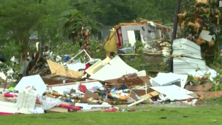 Multiple injuries after tornado rips through east Texas