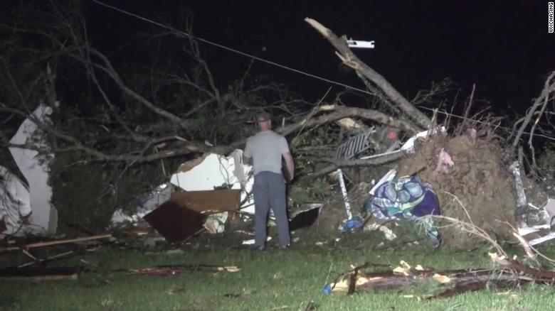 Hail tornadoes and damaging winds hammer Southeast