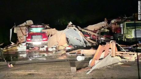 A tornado destroyed the Hamilton Mississippi Volunteer Fire Department on Saturday