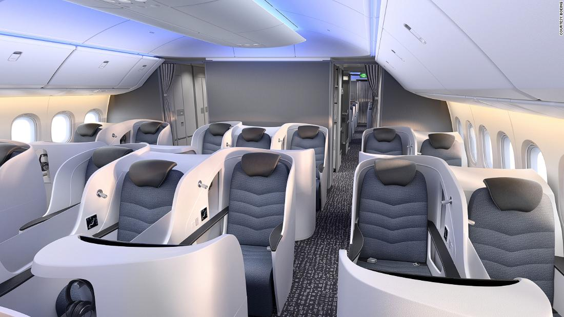 Cabin mock-up offers first look inside the new Boeing 777X