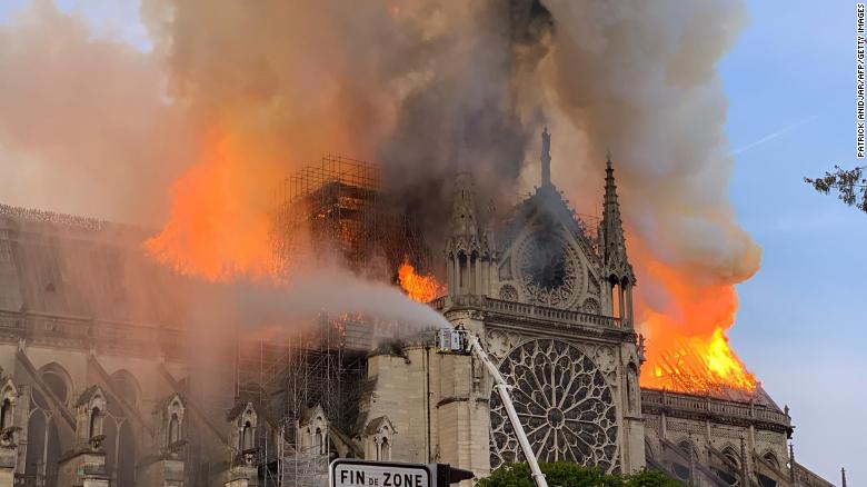 Notre Dame cathedral is burning down - heartbreaking footage