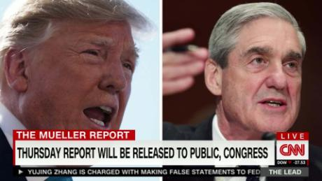 Trump legal team prepares as DOJ says Mueller report coming Thursday