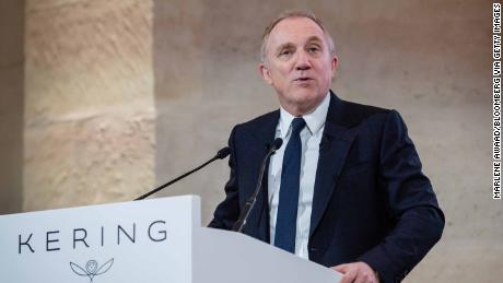 Francois-Henri Pinault chief executive officer of Kering SA speaks during a news conference