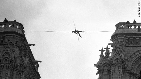 Coronations, protests and tightrope artists: A visual history of Notre Dame