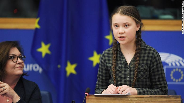 Nhà hoạt động khí hậu Greta Thunberg đã nói chuyện với một ủy ban Nghị viện châu Âu hôm thứ ba.