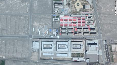 Alleged detention center on the outskirts of Kashgar, which CNN tried to enter but was turned away by guards.