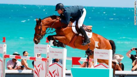 Daniel Bluman of Israel rode Bacara d'Archonfosse in Miami last year.