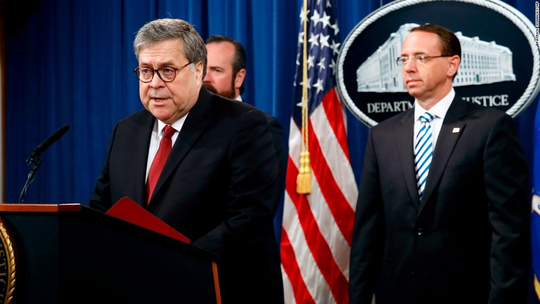 Read: Attorney General William Barr's prepared remarks about the release of the redacted Mueller report - CNNPolitics