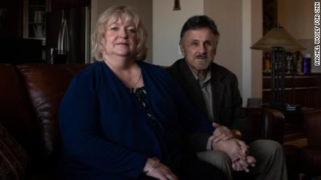 Diane and Frank DeAngelis were high school sweethearts who lost touch, then married in 2013.