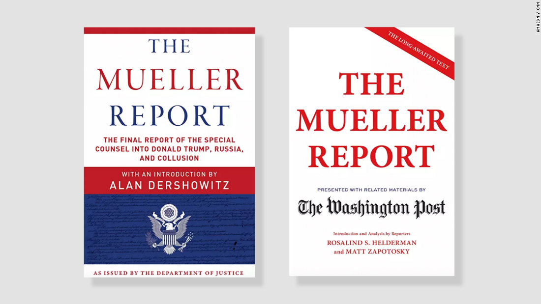 "Mediagazer: Three printed versions of ""The Mueller Report"" rose to"
