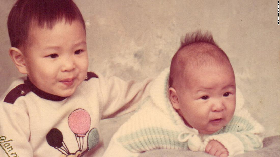 Yang was born January 13, 1975, to the parents of Taiwanese immigrants in upstate New York. He has one older brother, Lawrence. On his campaign website, Yang said his dad was a researcher at IBM who generated dozens of patents over his career. His mother was the systems administrator at a local university.