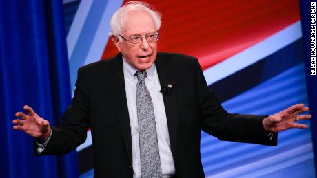 U.S. Senator and Democratic presidential hopeful Bernie Sanders is seen during a live CNN Town Hall moderated by Chris Cuomo at Saint Anselm College on Monday, April 22, 2019, in Manchester, N.H. Elijah Nouvelage for CNN
