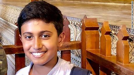A US fifth-grader was at breakfast when he was killed in the Sri Lanka bombings