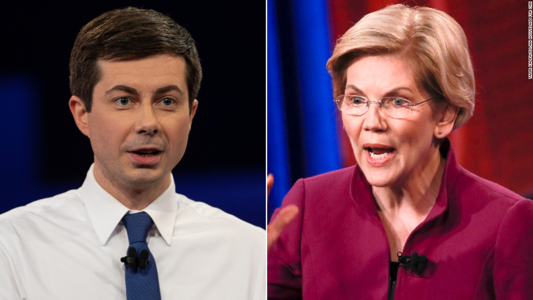 Elizabeth Warren's the professor and Pete Buttigieg is the student without his homework. - CNNPolitics