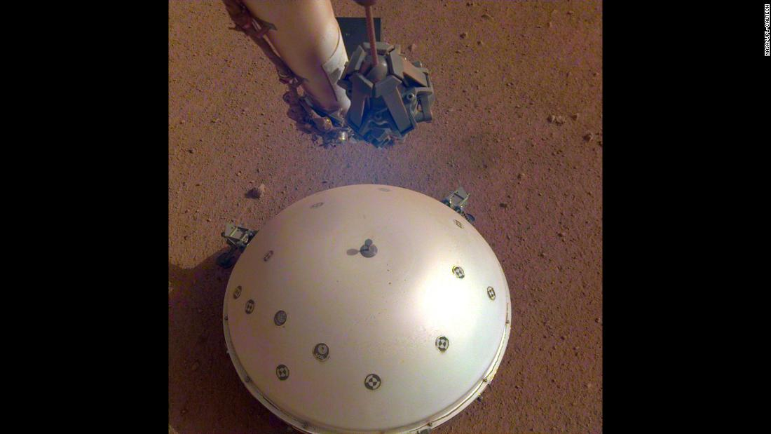 "InSight's seismometer recorded a ""marsquake"" for the first time on April 6, 2019."