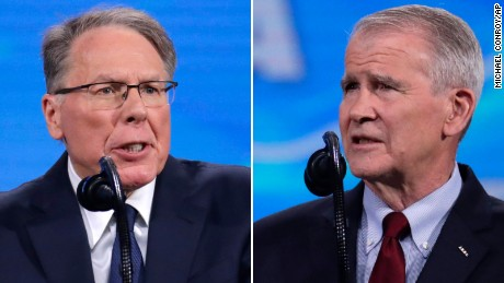 Wayne LaPierre and Oliver North