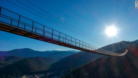 The longest pedestrian suspension bridge in the US opens in Tennessee next month