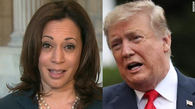 Kamala Harris responds to Trump calling her 'nasty'