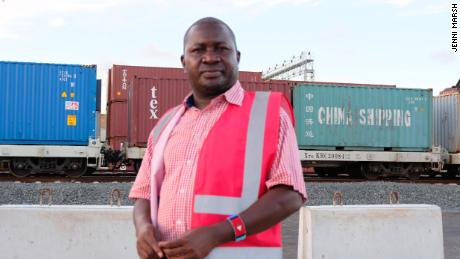 Tom Ojijo, operations expert at Kenya Railways Corporation, at Mombasa port.