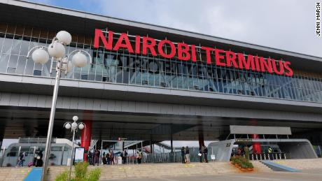 The exterior of Nairobi Train Station on the outskirts of the city.